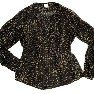 Converse One Star Black and Gold Sheer Blouse